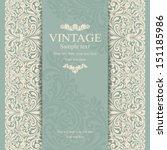 wedding invitation cards... | Shutterstock .eps vector #151185986