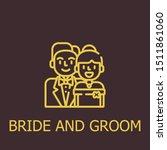 outline bride and groom vector...   Shutterstock .eps vector #1511861060