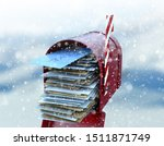A Christmas Concept Depicting A ...
