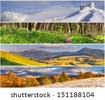 Set Of The 4 Seasons Landscape...