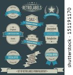 set of vintage retro labels ... | Shutterstock .eps vector #151191170