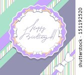 template for greeting card in... | Shutterstock .eps vector #151192520