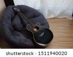Music Instrument  Guitar On...