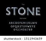 stone alphabet and font. vector ... | Shutterstock .eps vector #1511943659