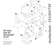hexagons genetic  science...   Shutterstock .eps vector #1511947739