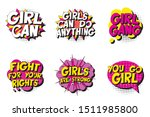 set of feminist slogans in... | Shutterstock .eps vector #1511985800