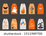 Set Of Halloween Tags For...