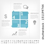 Vector business infographic timeline. Infographic business template for presentation design. Infographic Includes vector elements such as diagrams, charts, bars, business icons. - stock vector