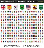 all national flags of the world ... | Shutterstock .eps vector #1512000203