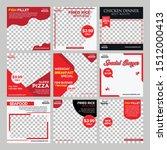 food social media post design...   Shutterstock .eps vector #1512000413