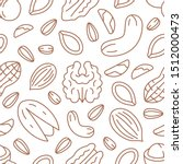 nut seamless pattern with flat... | Shutterstock .eps vector #1512000473