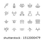 skin care flat line icons set.... | Shutterstock .eps vector #1512000479