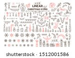 winter holidays decoration... | Shutterstock .eps vector #1512001586