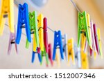 colorful  clothespins on the... | Shutterstock . vector #1512007346