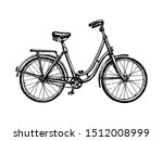 vintage bicycle. ink sketch... | Shutterstock .eps vector #1512008999