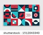 retro bauhaus simple geometric... | Shutterstock .eps vector #1512043340