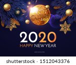 happy new 2020 year  shining... | Shutterstock .eps vector #1512043376