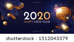 happy new 2020 year  shining... | Shutterstock .eps vector #1512043379
