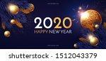 happy new 2020 year  shining...   Shutterstock .eps vector #1512043379