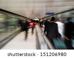 passengers in a rush at an... | Shutterstock . vector #151206980