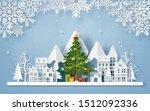 origami paper art of christmas... | Shutterstock .eps vector #1512092336