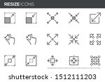 resize vector line icons set....