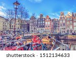 cityscape on a sunny winter day ... | Shutterstock . vector #1512134633