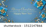christmas composition. winter... | Shutterstock .eps vector #1512147866