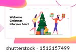 merry christmas and happy new... | Shutterstock .eps vector #1512157499