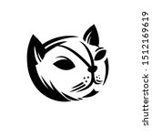 vector of a cat face design.  | Shutterstock .eps vector #1512169619