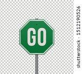realistic metallic 'go' sign....   Shutterstock .eps vector #1512190526