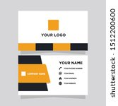 business card vector modern... | Shutterstock .eps vector #1512200600