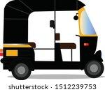 indian auto rickshaw isolated...   Shutterstock .eps vector #1512239753