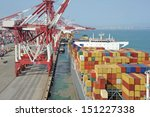 container terminal | Shutterstock . vector #151227338