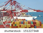 container terminal | Shutterstock . vector #151227368