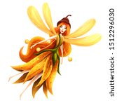 little fairy girl. isolated on... | Shutterstock . vector #1512296030