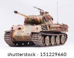 "German tank ""Panther"" in World War II at white background"