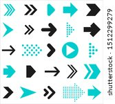 arrows vector collection blue... | Shutterstock . vector #1512299279