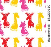 seamless vector pattern with... | Shutterstock .eps vector #151230110