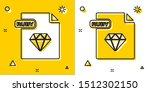 black ruby file document.... | Shutterstock .eps vector #1512302150