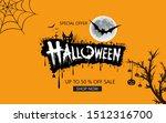 happy halloween sale banners or ... | Shutterstock . vector #1512316700