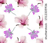 pink magnolia. purple lotus.... | Shutterstock .eps vector #1512335936