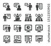 presentation and presenter icon ... | Shutterstock .eps vector #1512353903
