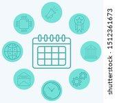 calendar vector icon sign symbol