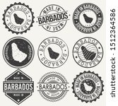 barbados travel stamp made in... | Shutterstock .eps vector #1512364586