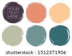 vector set of hand painted... | Shutterstock .eps vector #1512371906