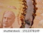 canadian hundred dollar bills... | Shutterstock . vector #1512378149