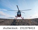 Helicopter Landing On Alaska...