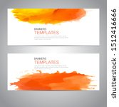design banner with watercolor... | Shutterstock .eps vector #1512416666