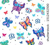 seamless repeat pattern with... | Shutterstock .eps vector #1512432500